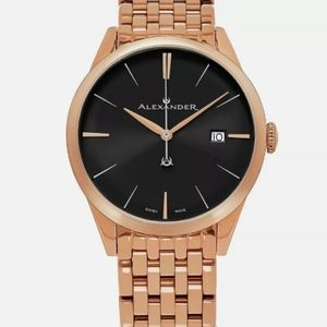 Alexander Men's Swiss Made Rose Gold Stainless Ste